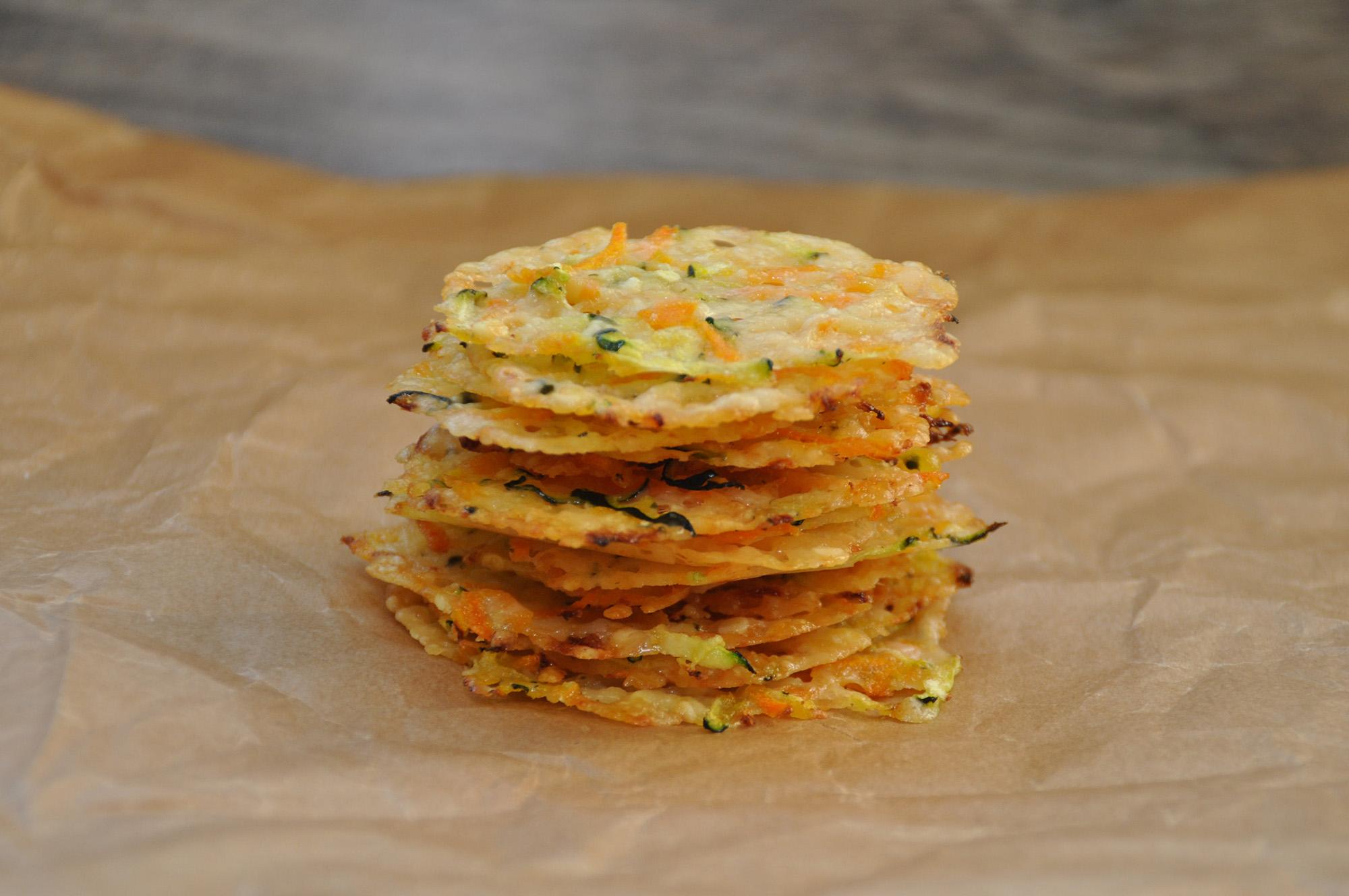 Parmesan-Gemüse-Chips