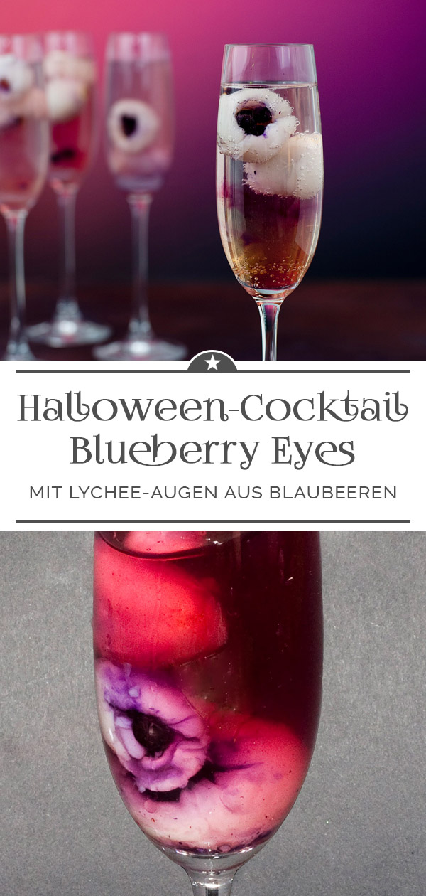 Halloween-Cocktail Blueberry Eyes