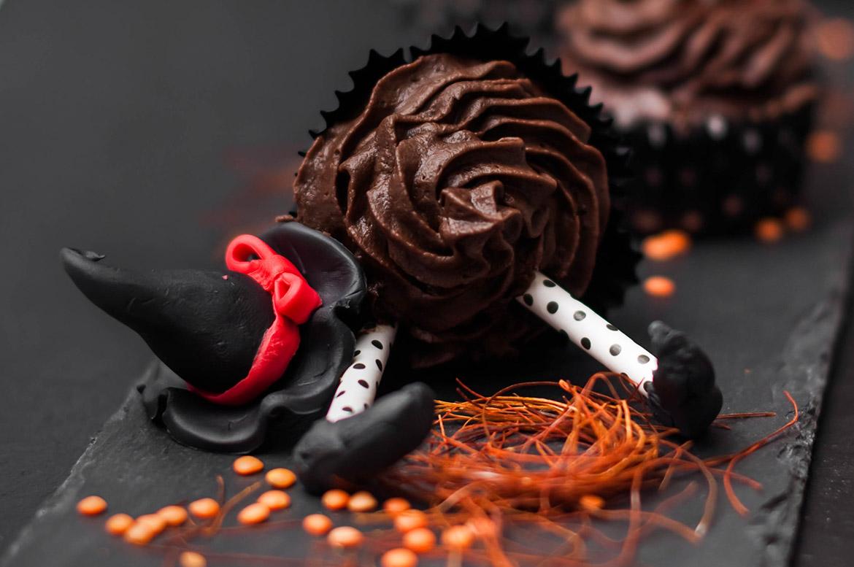 Schokoladenmousse-Cupcakes