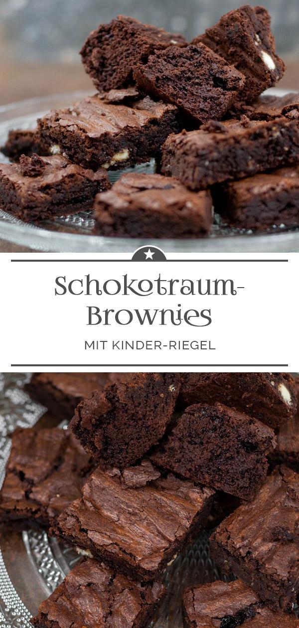 Schokotraum-Brownies mit Kinder-Riegel