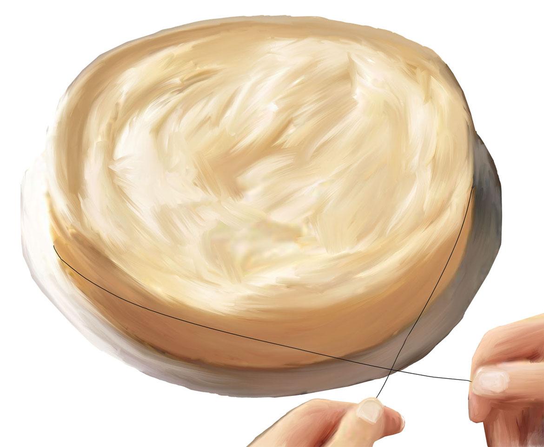 Glatter Tortenschnitt