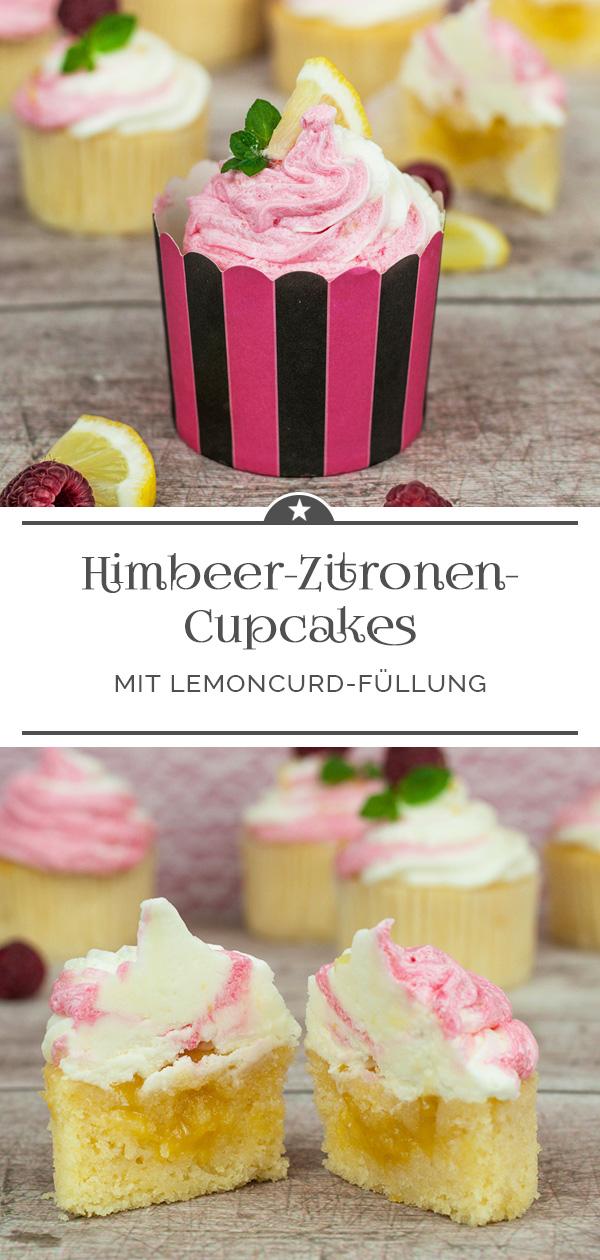 Himbeer-Zitronen-Cupcakes mit Lemoncurd-Füllung
