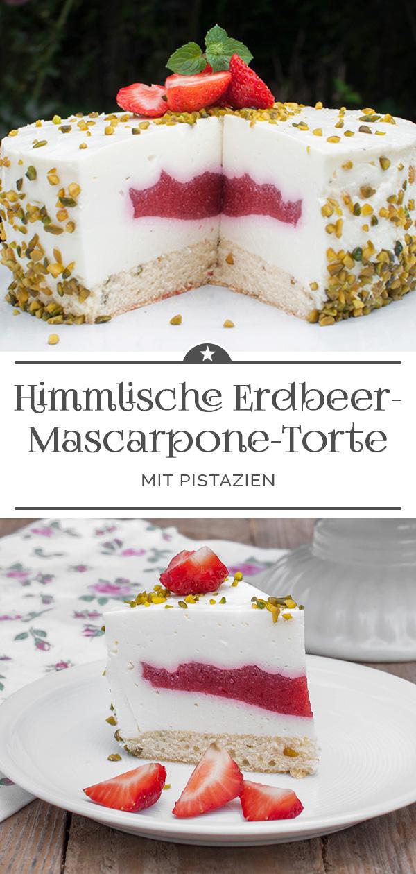 Himmlische Erdbeer-Mascarpone-Torte