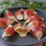 Gefüllte Käse-Teigtaschen mit Serrano