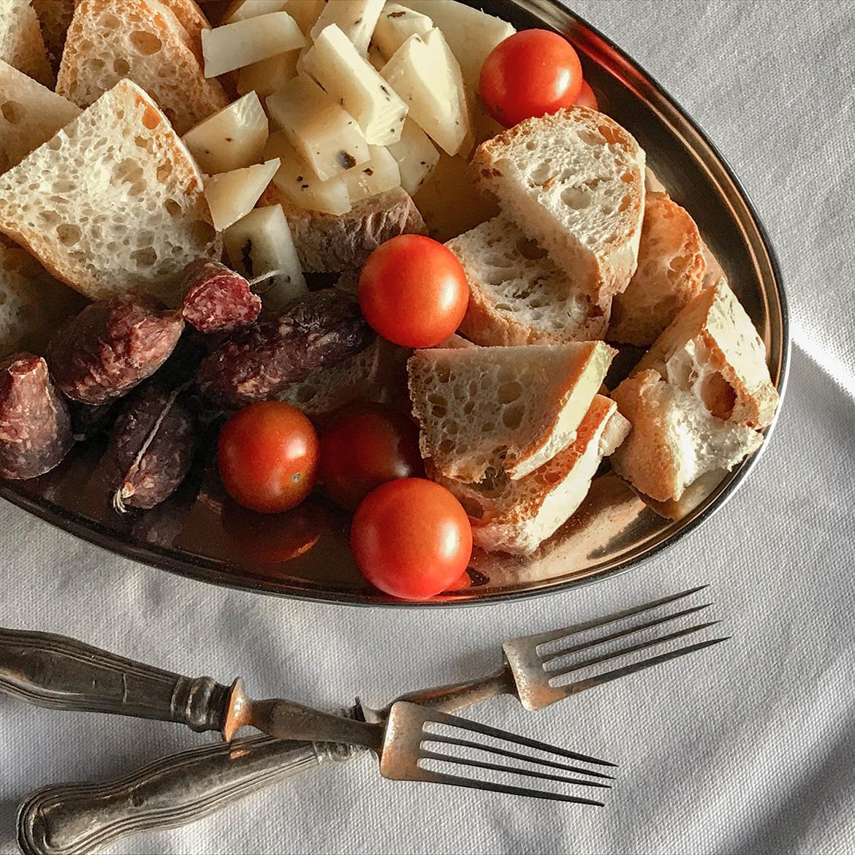 Trüffel-Pecorino und Salsicce