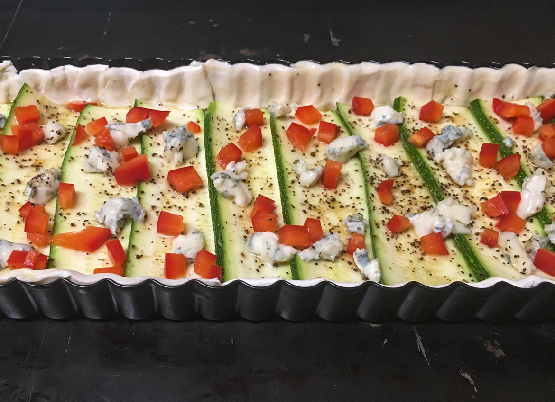Zucchini-Walnuss-Tarte