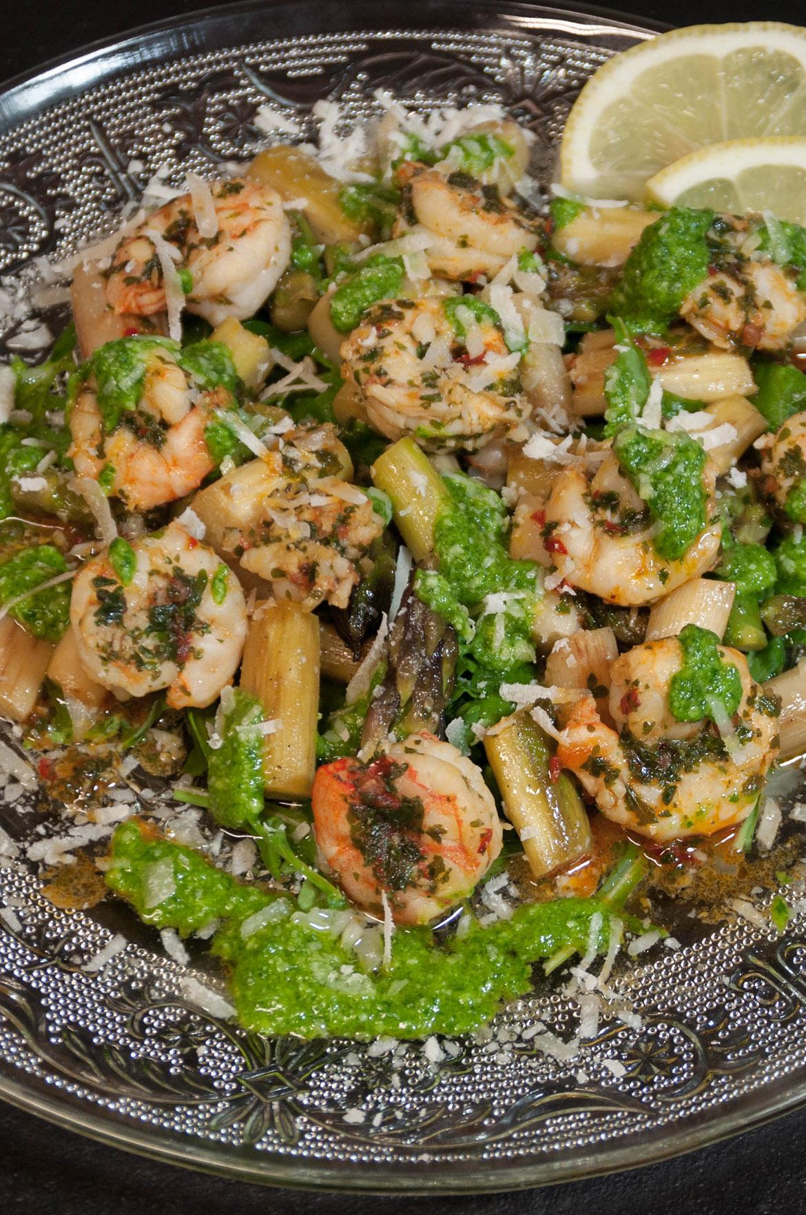Salat mit gebratenem Spargel