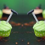 Halloween Limetten-Cupcakes