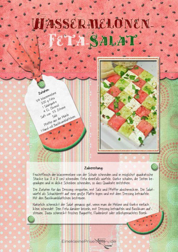 Wassermelonen-Schafskäse-Salat