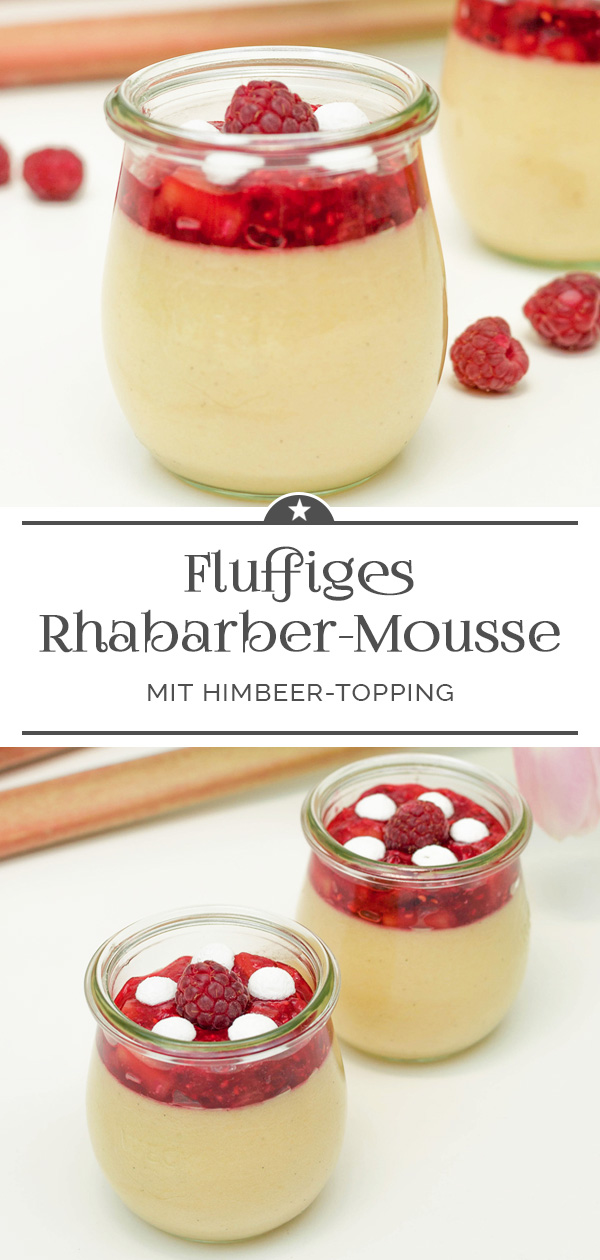 Rhabarber-Mousse mit Himbeer-Topping