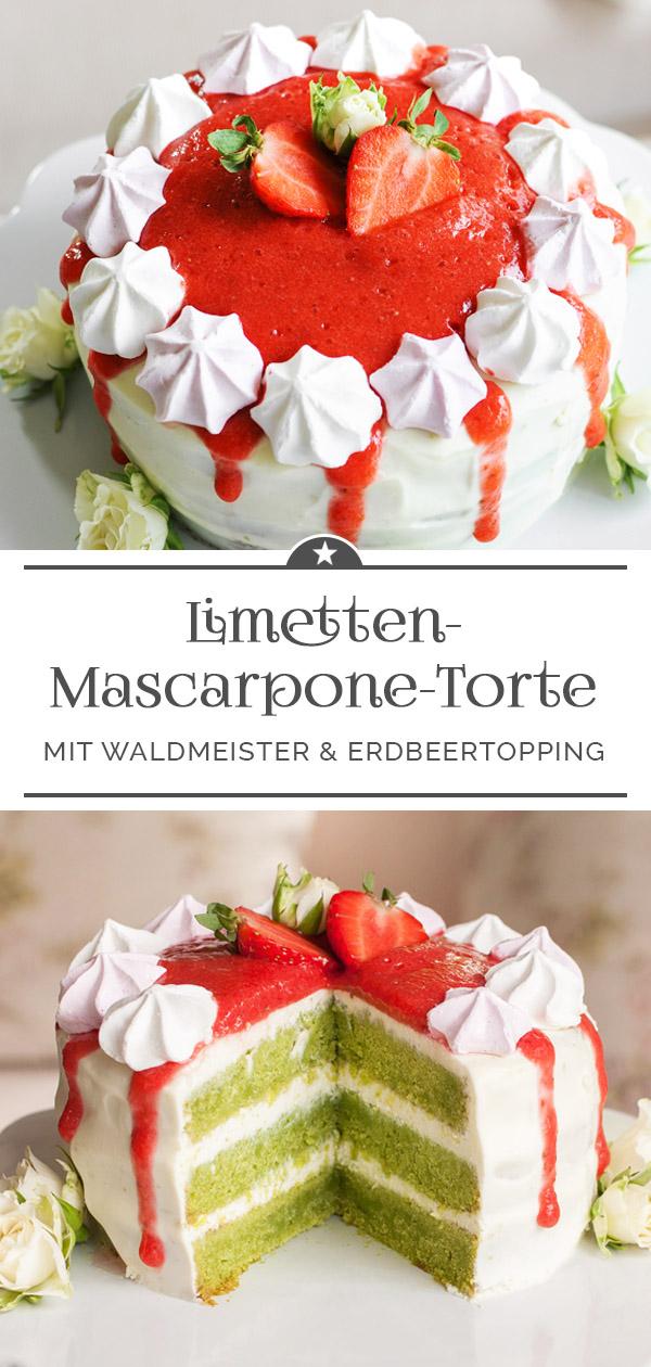 Limetten-Mascarpone-Torte