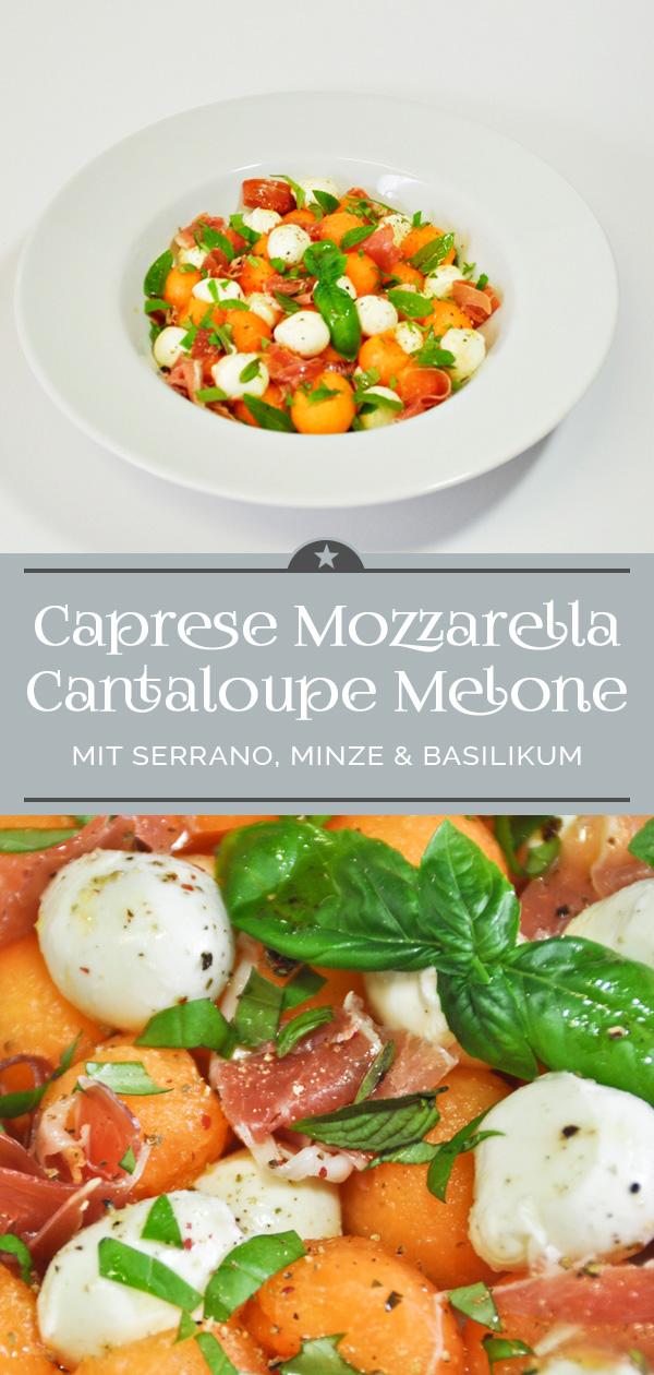 Caprese Mozzarella Cantaloupe Melone