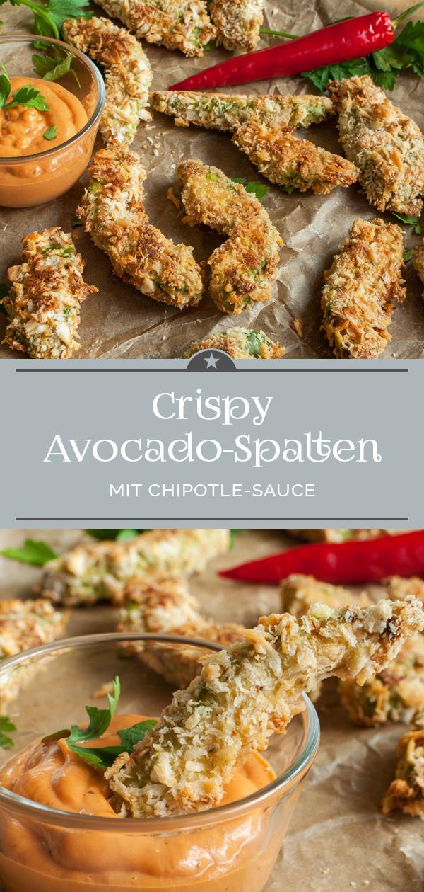 Crispy Avocadospalten mit Chipotle Sauce