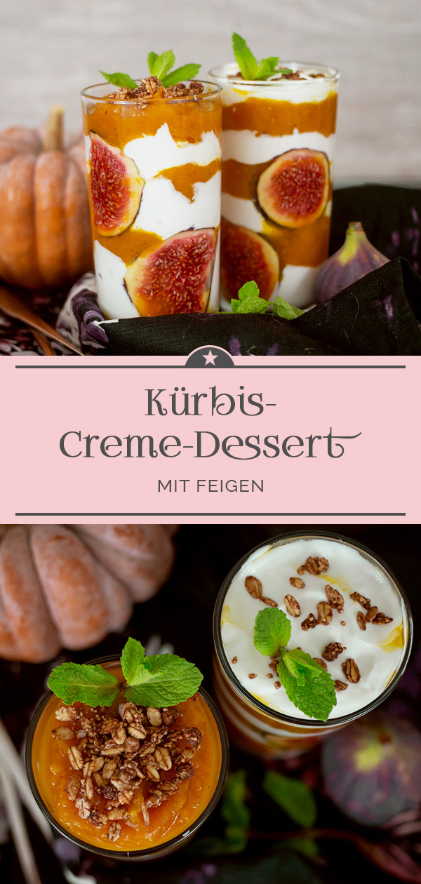Kürbis-Creme-Dessert