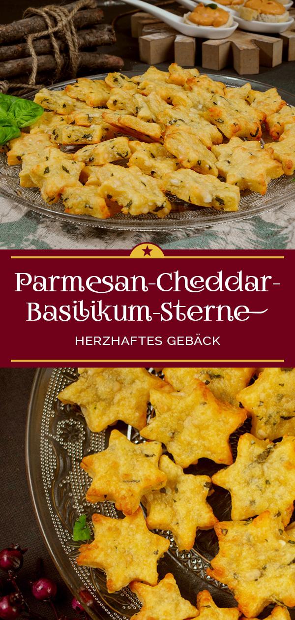 Parmesan-Basilikum-Sterne