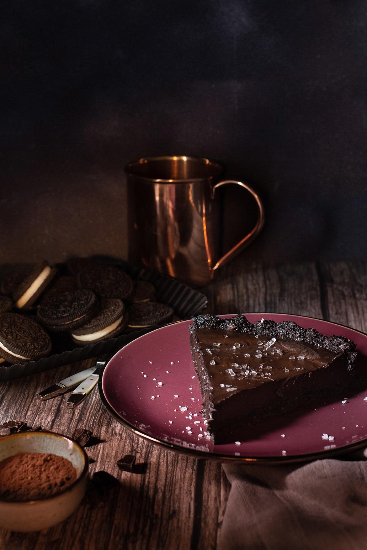 Salzige Schokoladentarte