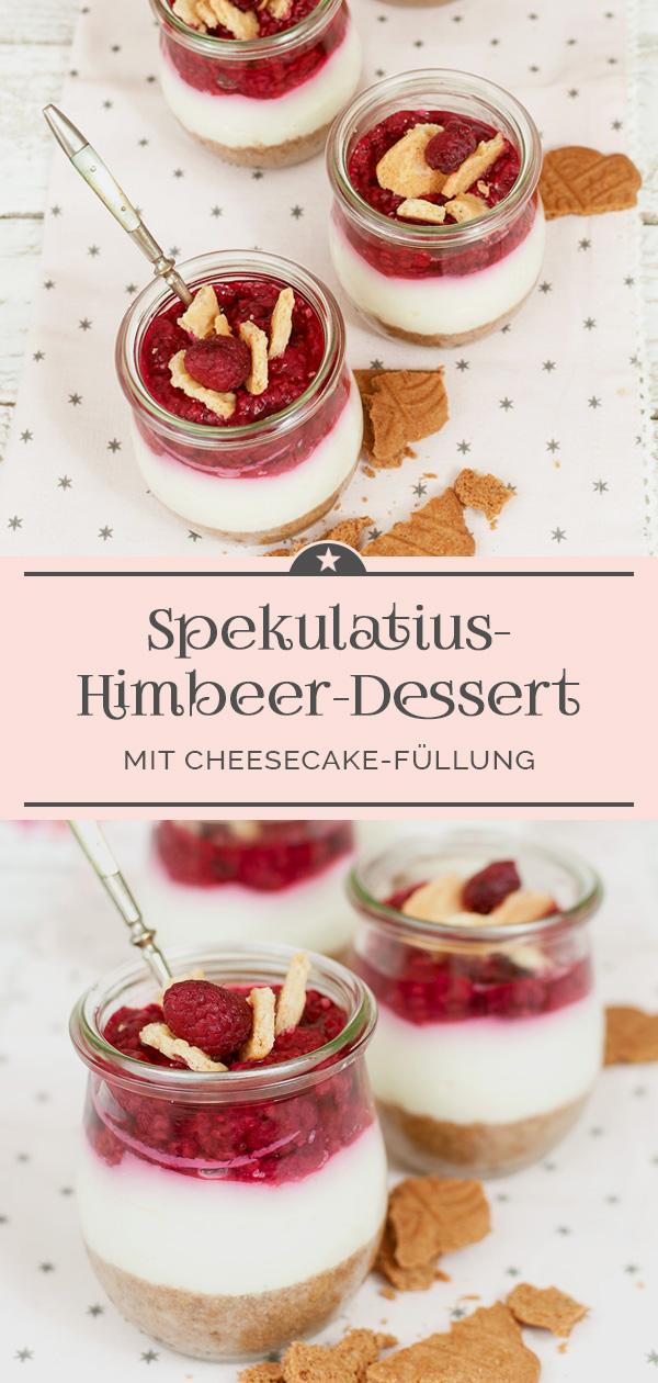 Spekulatius-Himbeer-Dessert