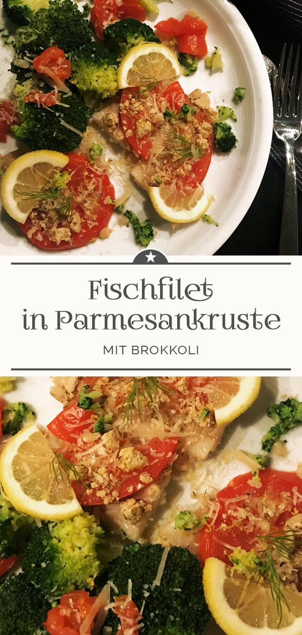 Fischfilet-in-Parmesankruste