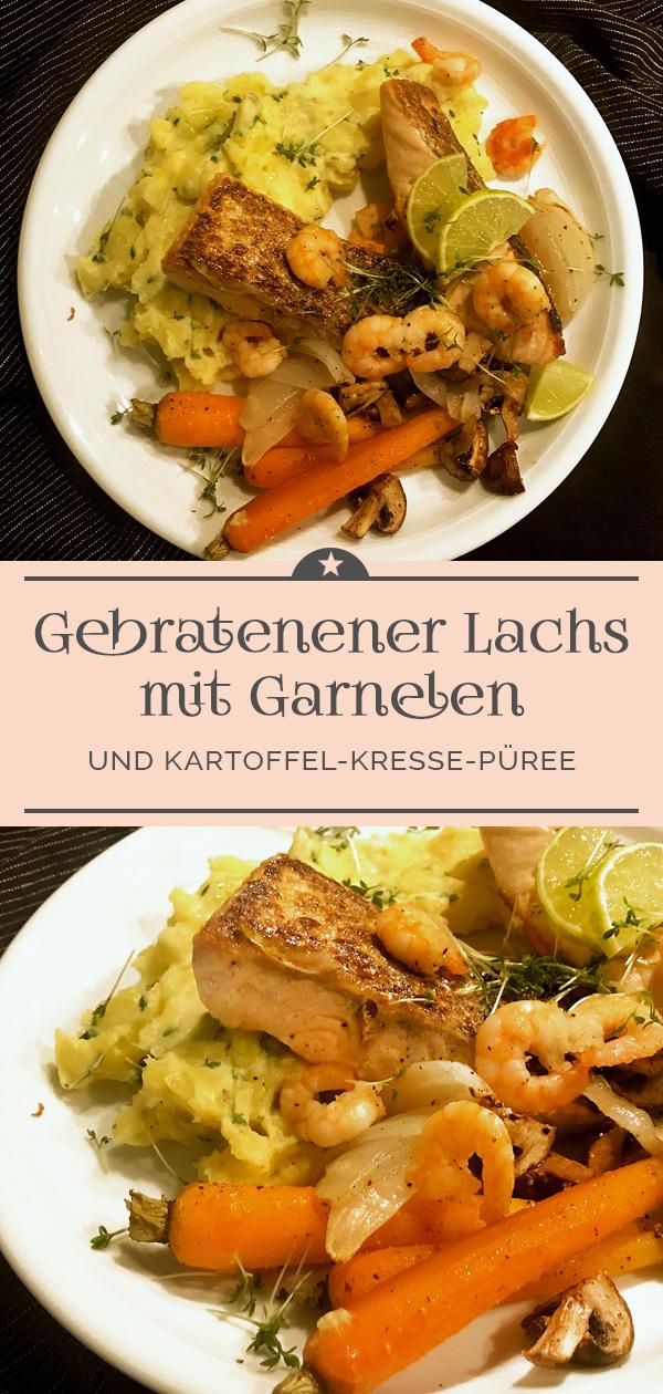 Gebratener-Lachs-mit-Garnelen