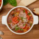 0-Punkte-Minestrone - Italienische Gemüsesuppe