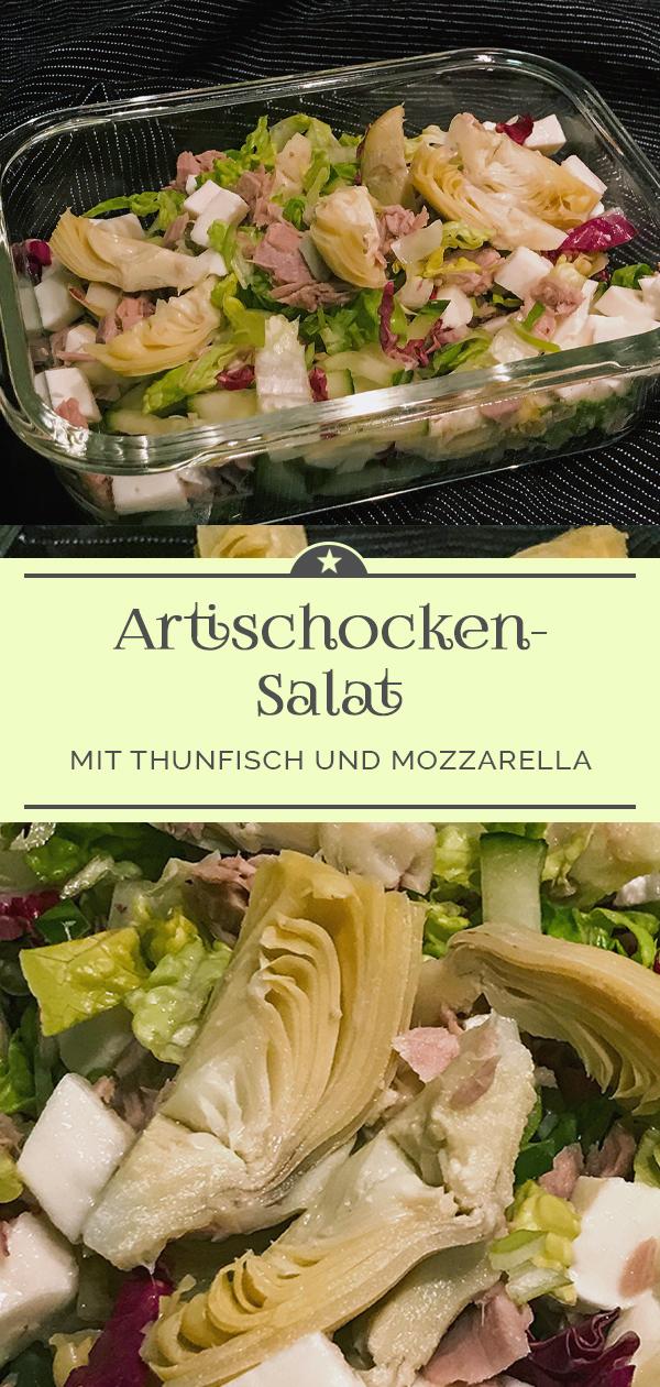 Romanasalat-mit-Artischocken-Thunfisch-und-Mozzarella