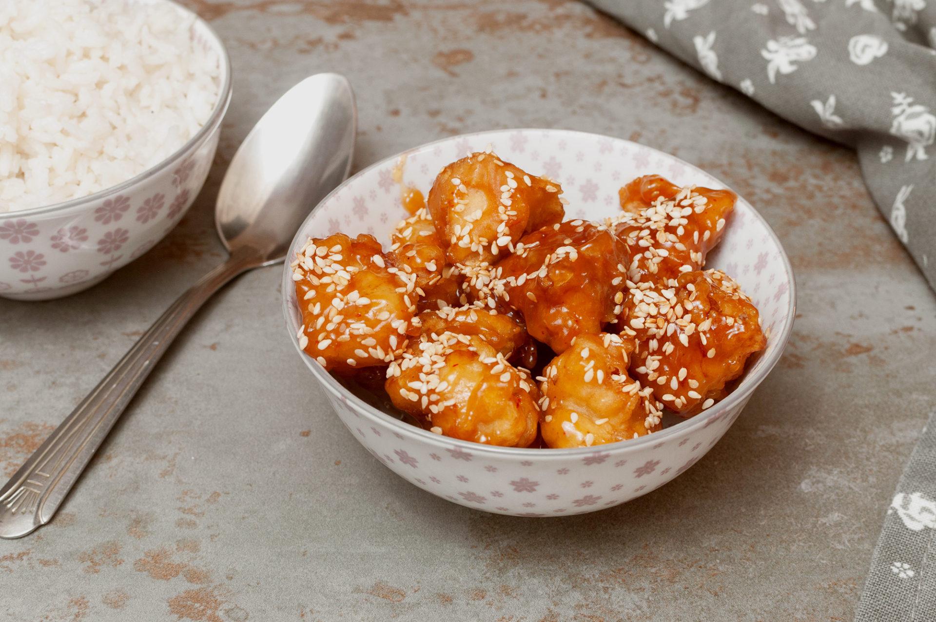 Hähnchen in Honig-Sesam-Sauce