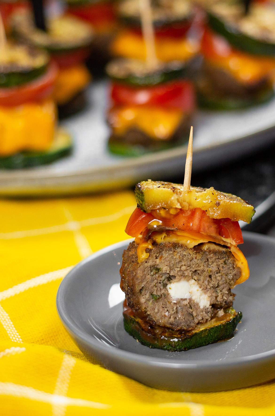 Mini Zucchini-Burger
