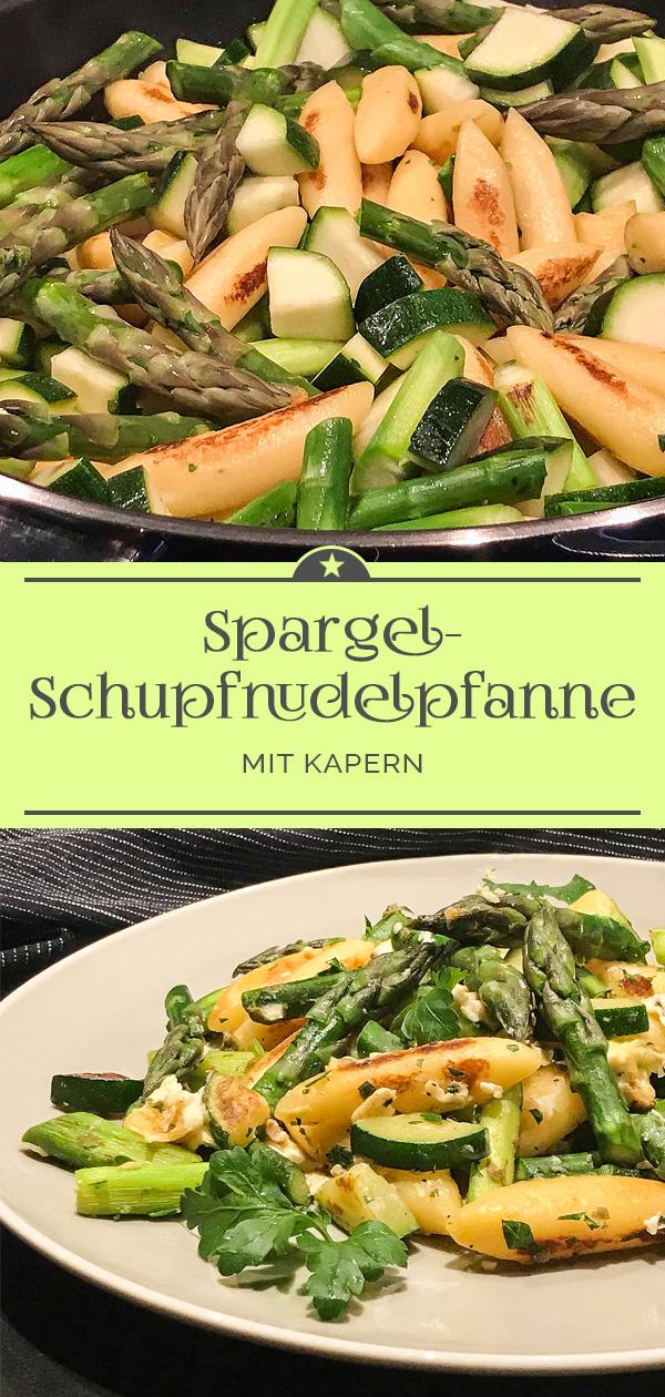 Spargel-Schupfnudelpfanne.