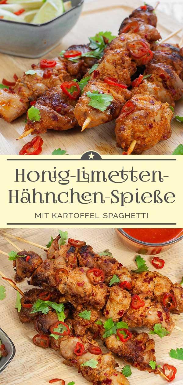 Honig-Limetten-Haehnchenspiesse