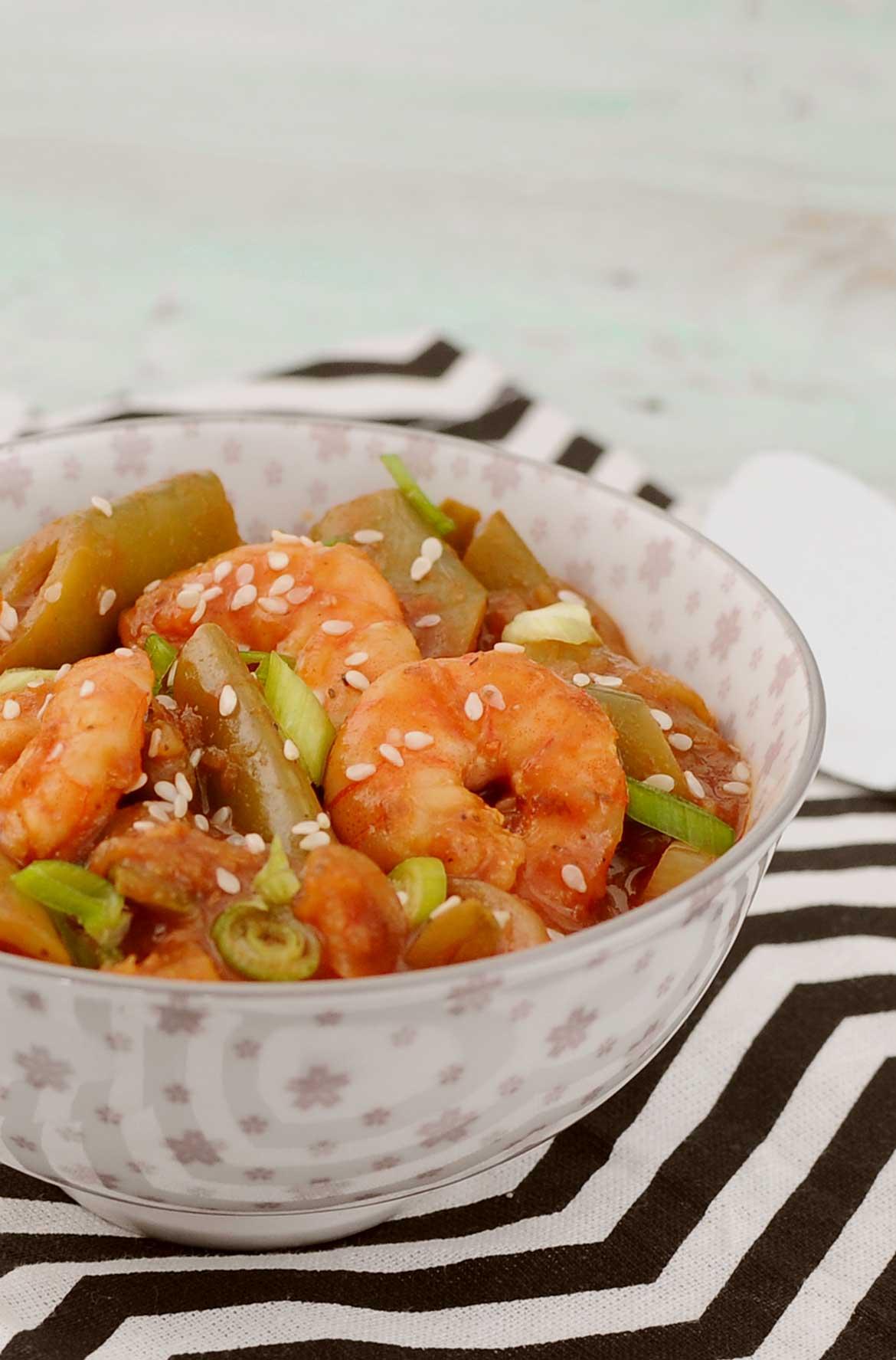 Garnelen-Curry mit Zuckerschotenerbsen