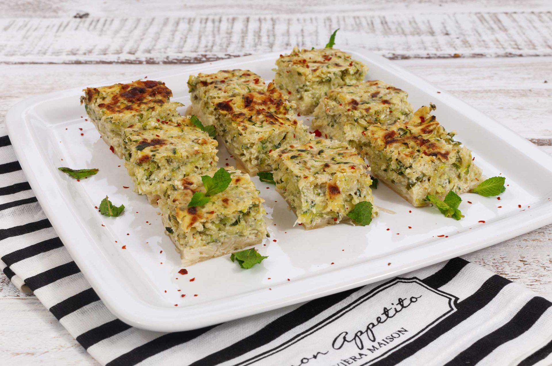 Zucchini-Ricotta-Happen auf Filoteig