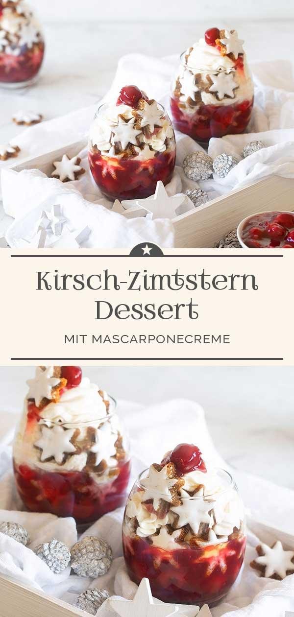 Kirsch-Zimtstern-Dessert