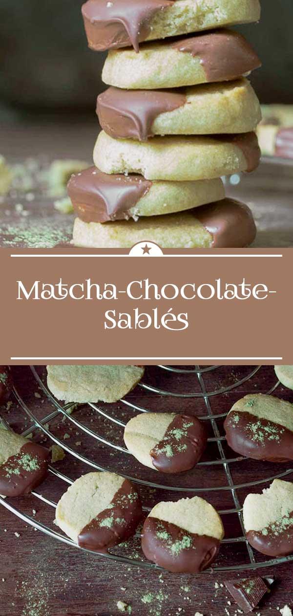 Matcha-Chocolate-Sables