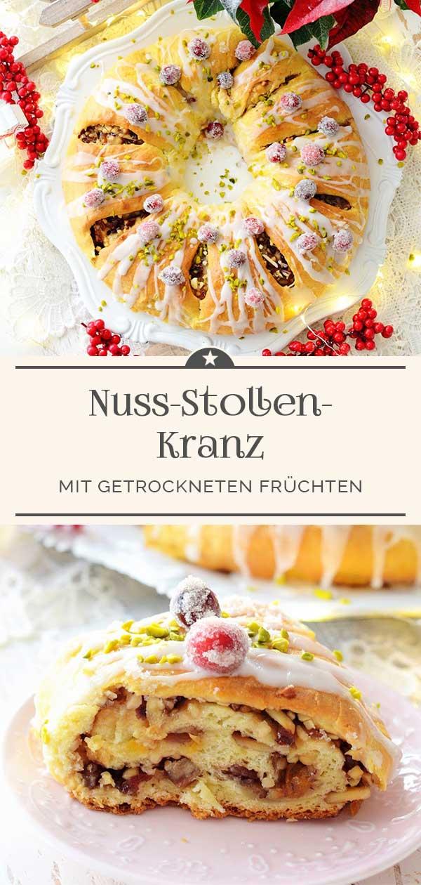 Nuss-Stollen-Kranz