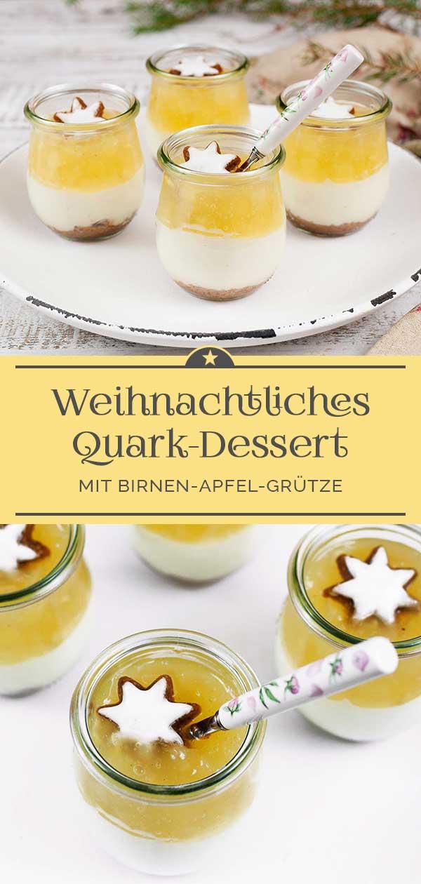 Weihnachtliches-Quarkdessert