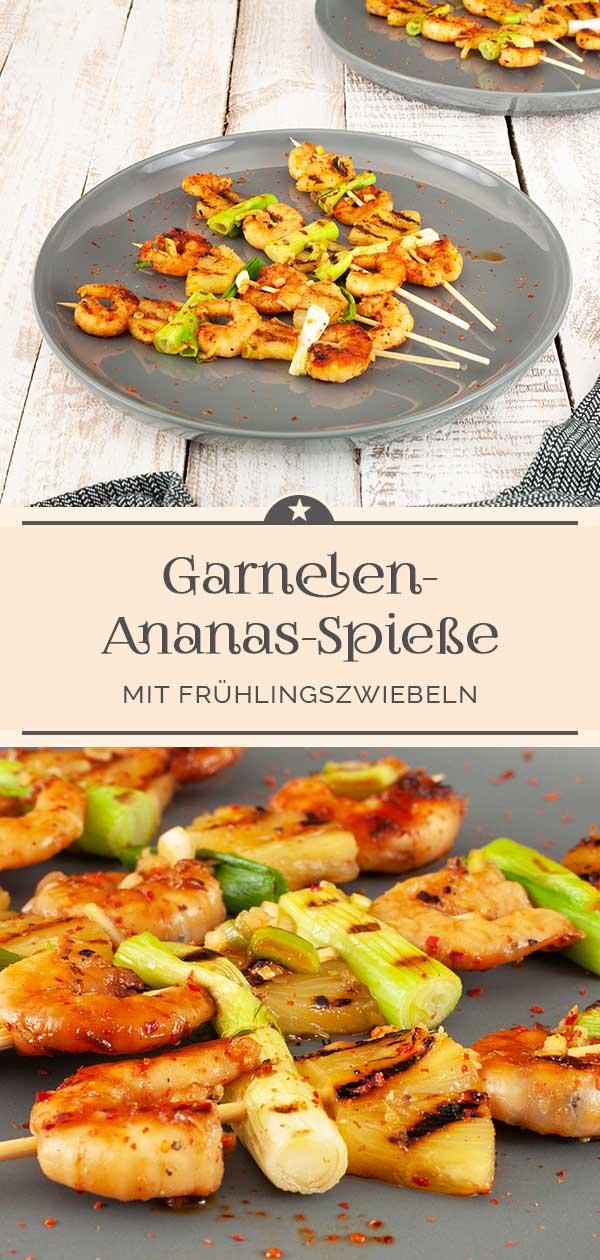 Garnelen-Ananas-Spieße
