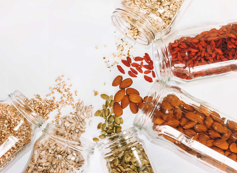 Nüsse, Körner und Samen