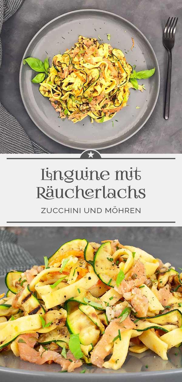 Linguine-mit-Zucchini-und-Räucherlachs