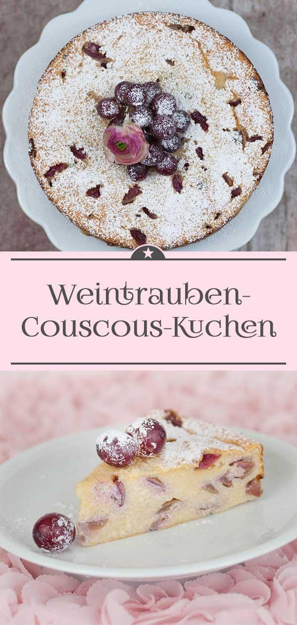 Weintrauben-Couscous-Kuchen