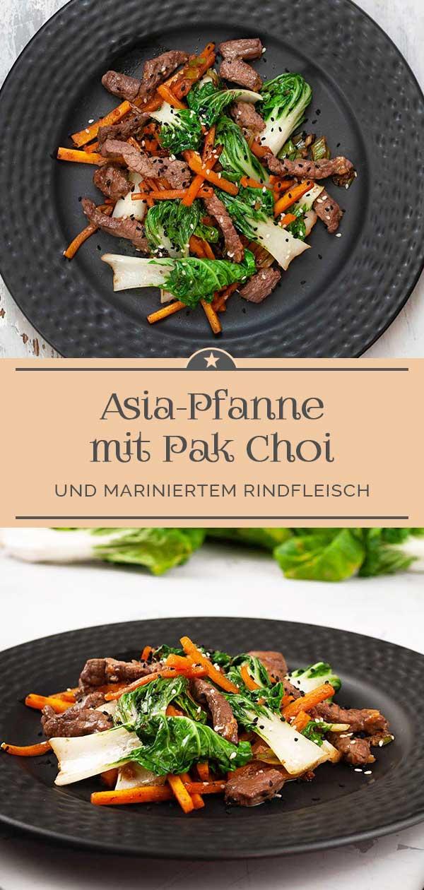 Asia-Pfanne-mit-Pak-Choi-und-mariniertem-Rindfleisch