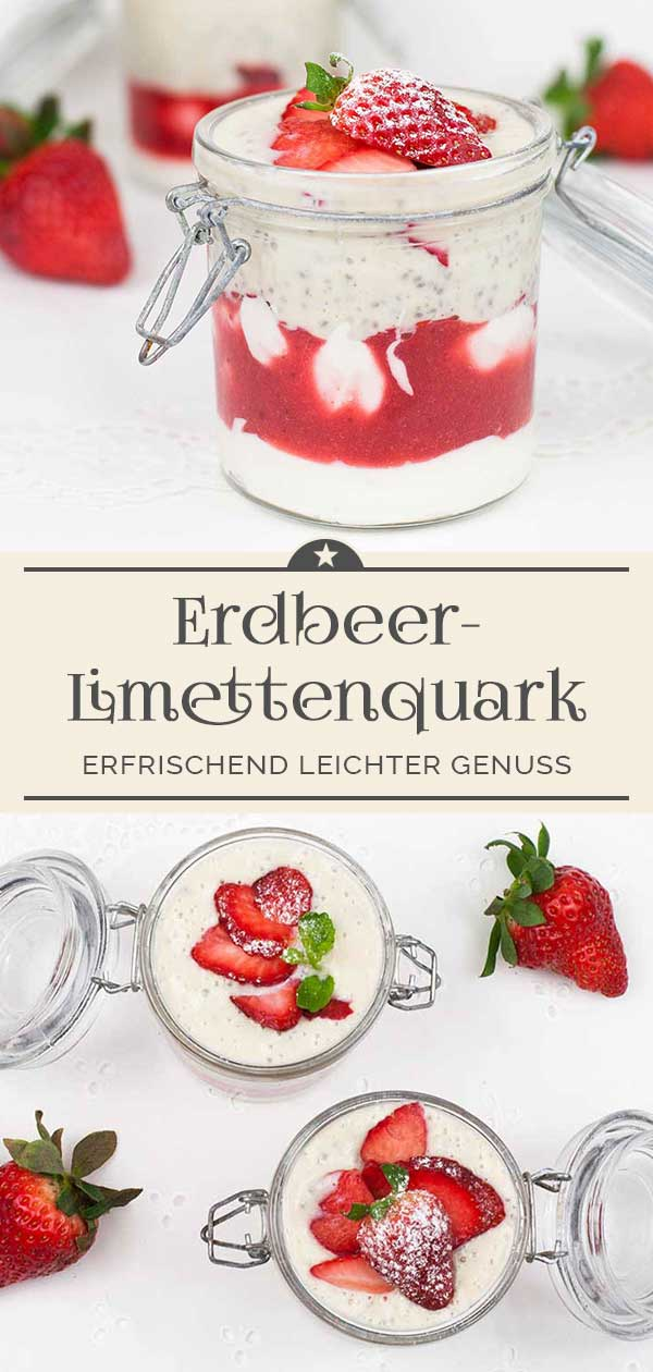 Erdbeer-Limettenquark