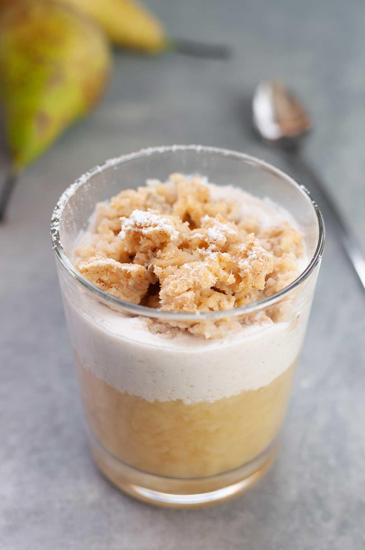 Birnenkompott mit Zitronenjoghurt