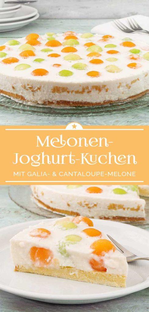 Erfrischender Melonen-Joghurt-Kuchen